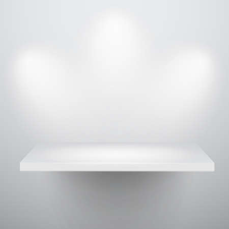 expansive: 3d isolated Empty shelf for exhibit. Vector illustration. Illustration