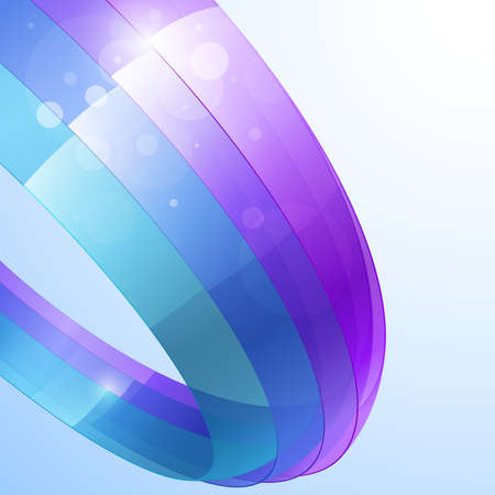 3d bright abstract background - vector illustration Vector