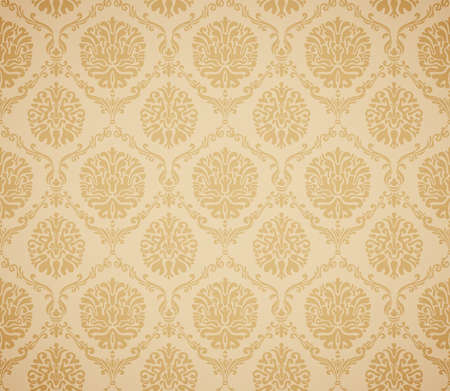 Damask seamless floral pattern. Vintage vector illustration. Vector