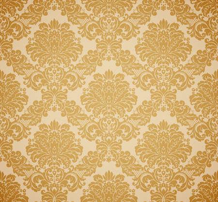 damast: Damaris seamless floral Pattern. Vintage Vektor-Illustration. Illustration