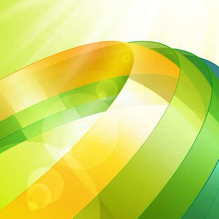 revolve: 3d bright abstract background - vector illustration Illustration
