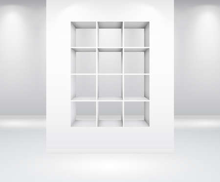 Gallery Interior with shelf inside the panel Vector