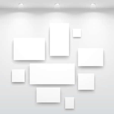 exposition art: Int�rieur Galerie avec une niche � l'int�rieur du panneau de