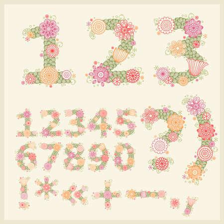 punctuation: colorful flower font.