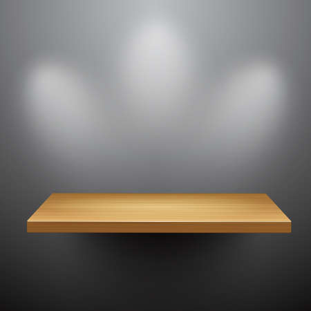 expansive: 3d isolated Empty shelf for exhibit. Illustration
