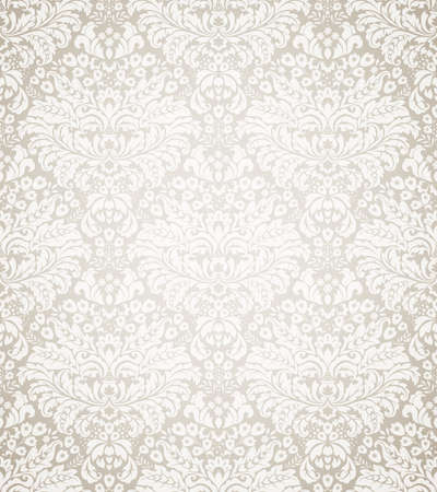antiek behang: Damast naadloze bloemmotief. Stock Illustratie