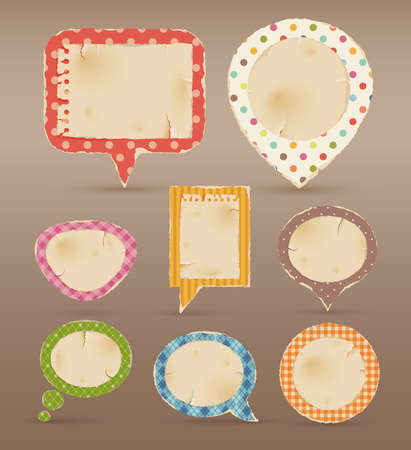 text messaging: Vintage colorful bubbles for speech.