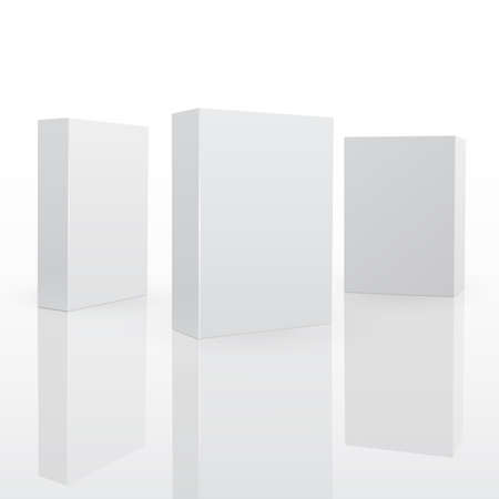 blank box: Blank pack fo software or other product. 3d vector illuctration