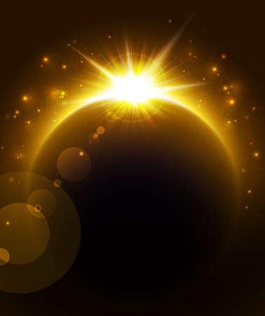 Sol sobre el planeta.