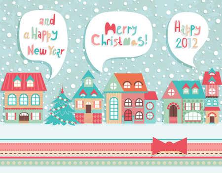 Funny Christmas postcard. Vector illustration. Stock Vector - 11656257