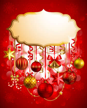 Christmas background with place for text. Vector illustration. Vector