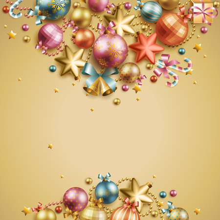 Christmas vintage background. Vector illustration. Vector
