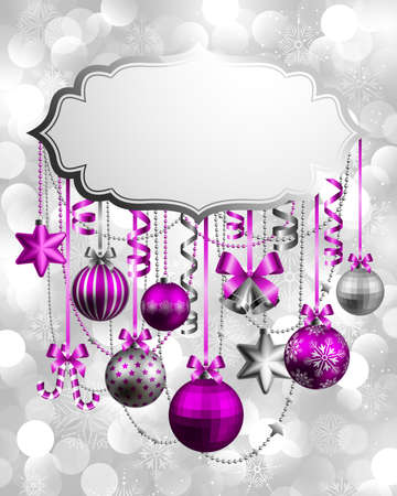 Christmas background with place for text. Vector illustration. Stock Vector - 11656296