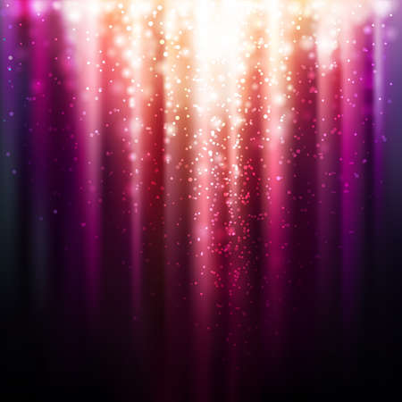Abstract background with magic light  Vector illustration