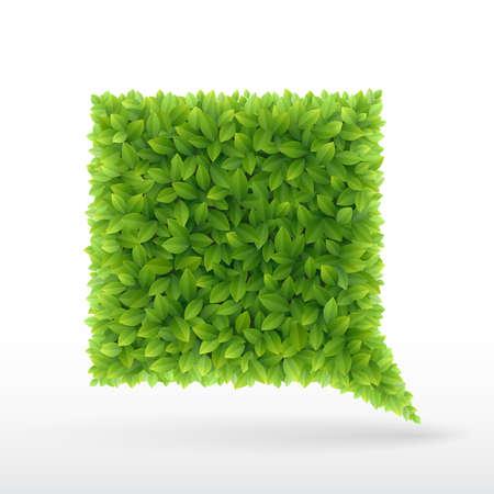 öko: Sommer-Blase für Sprach-, Blätter, grün, Illustration Illustration