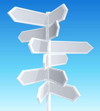 Richtung Verkehrszeichen Vektorgrafik