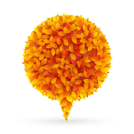 Autumn Bubble for speech   illustration Stock Vector - 14749094