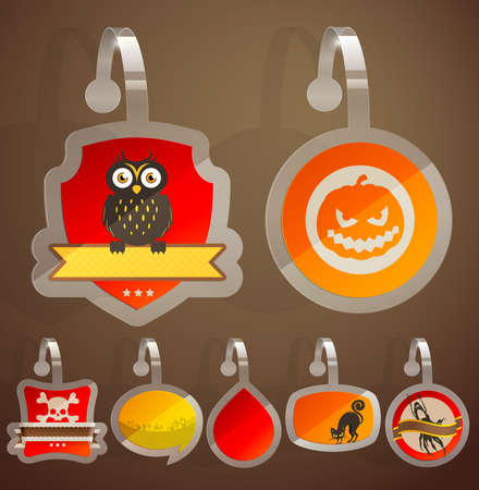 Set of Halloween stickers. Stock Vector - 15602734