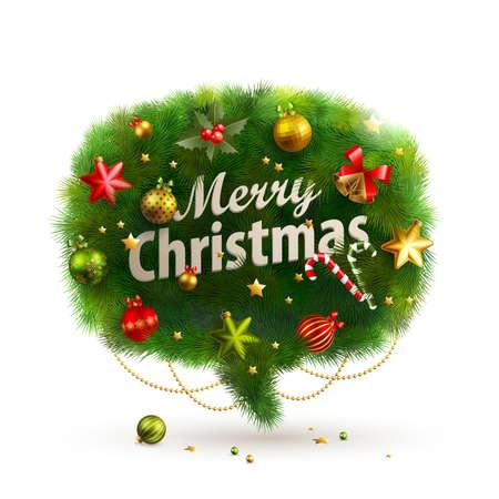 fir tree balls: Christmas Bubble for speech - fir tree.