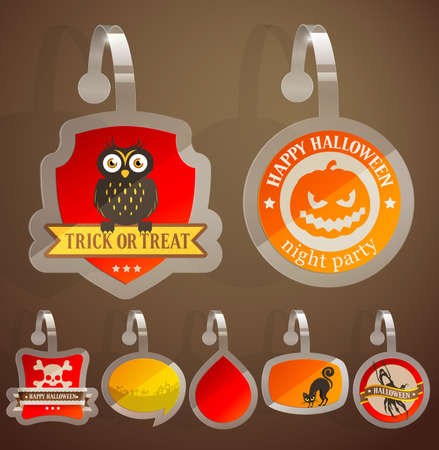 Set of Halloween stickers.  Stock Vector - 15983286
