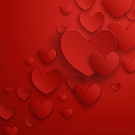 Valentine s Day abstract background  illustration  Vector