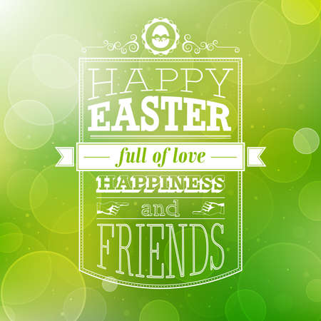 Easter card. Vector illustration. Vectores