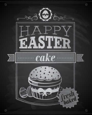 caligraphic: Easter card illustration. Illustration