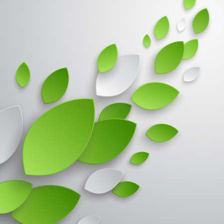 green artistic: Green leaves abstract background illustration.
