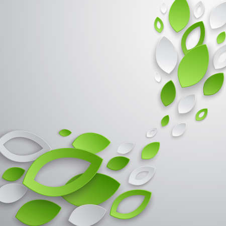 nature: Green leaves abstract background. illustration.