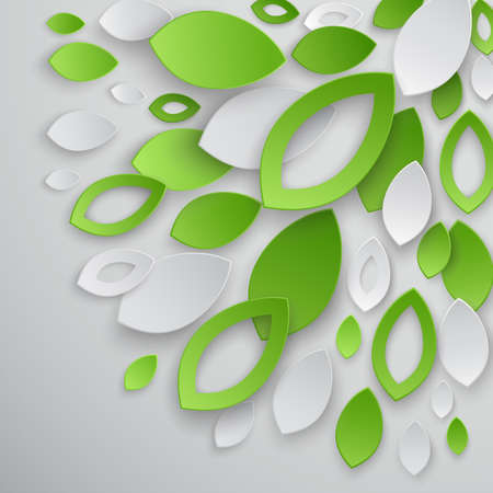 Green leaves abstract background.  illustration. Vector