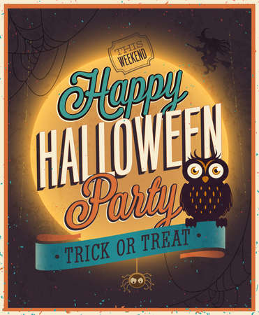 Happy Halloween Poster. Vector illustration. Vector