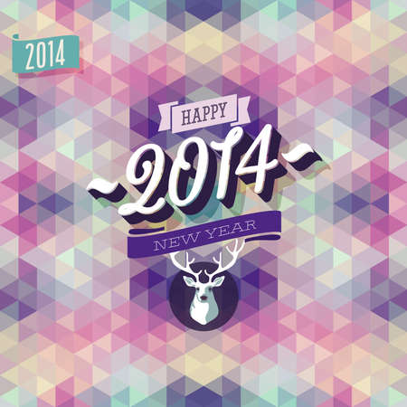 New Year Poster. Vector illustration. Vector