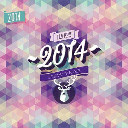 """New Year """"Poster. Vector illustratie."""