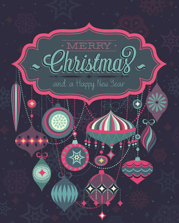 Christmas Poster. Vector illustration. Vector