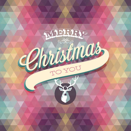 Merry Christmas Poster. Vector illustration. Vector