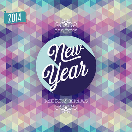 'New Year' Poster. Vector illustration. Vector