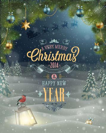 Affiche de Noël Vector illustration