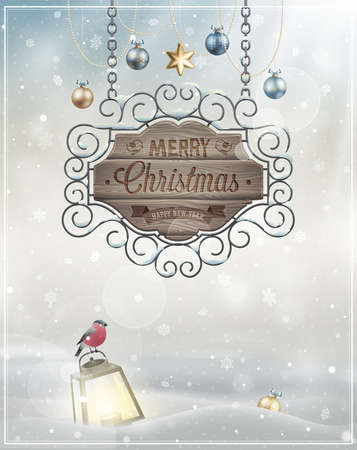 Christmas Poster  Vector illustration  Stock Vector - 24025619