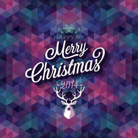 Merry Christmas Poster Vector illustratie Stock Illustratie