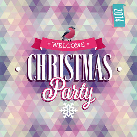 Christmas Party Poster. Vector illustration. Vector