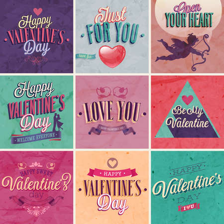 Valentines day set - labels, emblems and other decorative elements. Stock Vector - 26162479