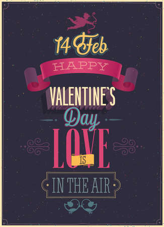 Valentine`s day Poster. illustration. Vector