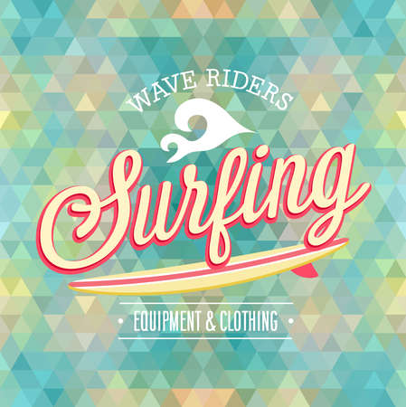 skateboard park: Surfing poster illustration.
