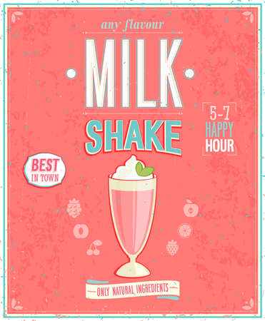 and with posters: Vintage MilkShake Poster.