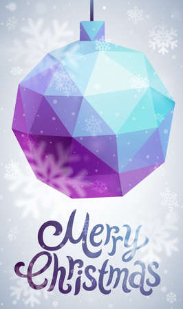 Christmas flyer - geometric stile. Vector