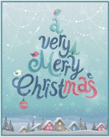 tipografia: Cartel de la Navidad.