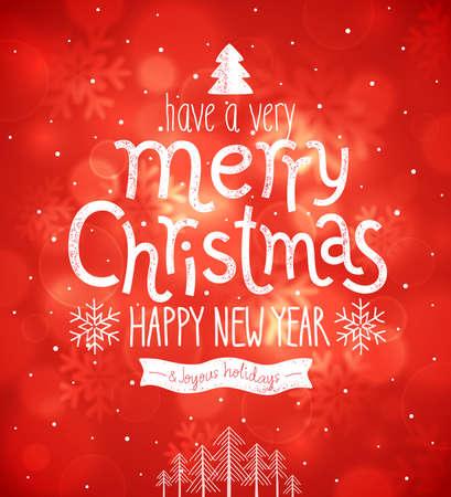 Christmas card. Vector illustration. Vector