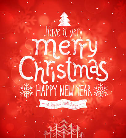 happy new year banner: Christmas card. Vector illustration.