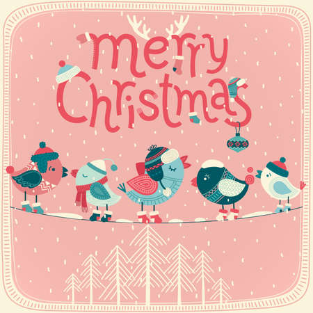 Christmas card. Vector illustration. Vector