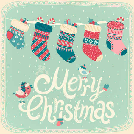 クリスマス カード。ベクトル イラスト。